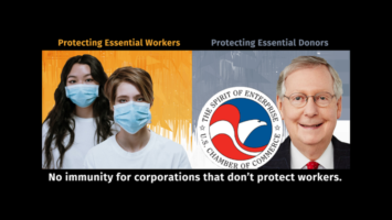 who is McConnell protecting: essential workers or essential donors?
